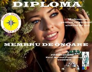 diploma de onoare blanc